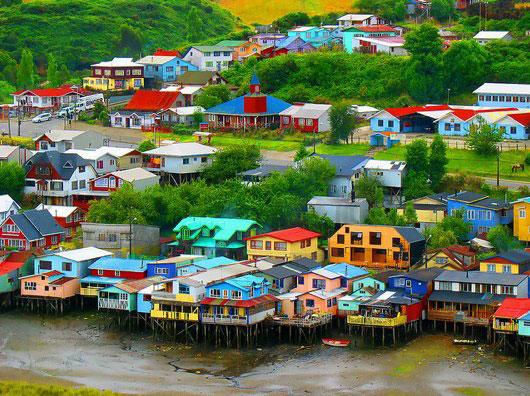 Un conjunto insular situado en la Región de Los Lagos, en el centro-sur de Chile.