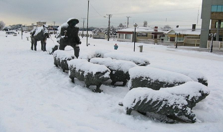 Monumento en la ciudad de punta arenas